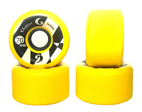 Glutier wheels : 70x42cm / 78a yellow