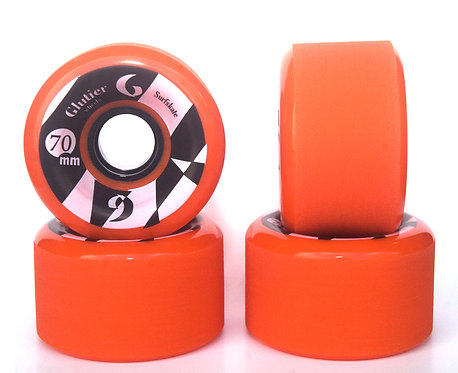 Glutier wheels : 70x42cm / 86a orange