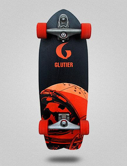 Glutier surfskate : Space mirror orange 29
