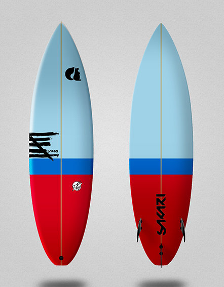 Sakari surfboard - Model Shape 018