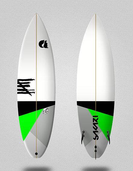 Sakari surfboard - Model Shape 012