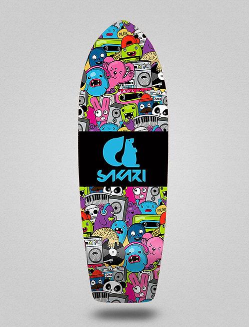 Sakari surfskate deck - Hard party 29