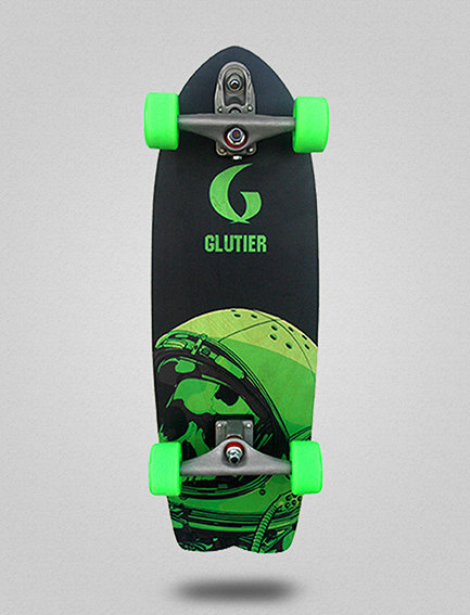 Glutier surfskate : Space mirror green 29