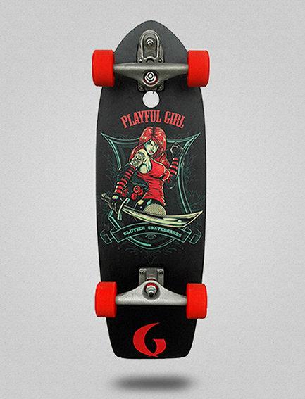 Glutier surfskate : Playfull girl 29