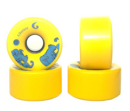 Glutier wheels : 65x36mm / 78a yellow