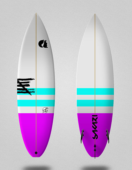 Sakari surfboard - Model Shape 004
