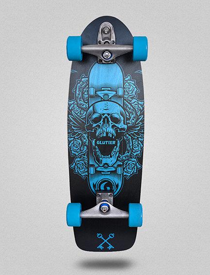 Glutier surfskate : Skate skull 30.5