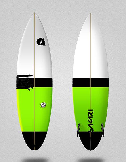 Sakari surfboard - Model Shape 010