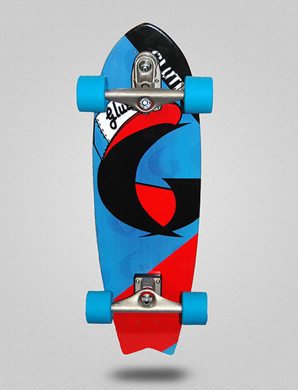 Glutier surfskate : Hypster 27¨ (special for childs)