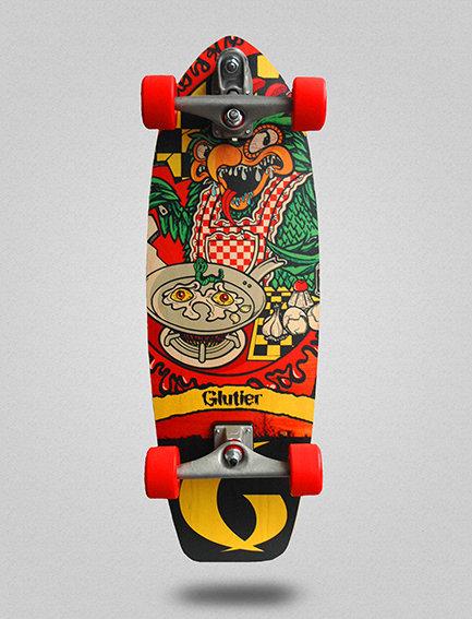 Glutier surfskate : Green top 31