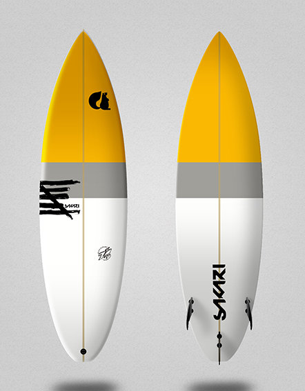 Sakari surfboard - Model Shape 014