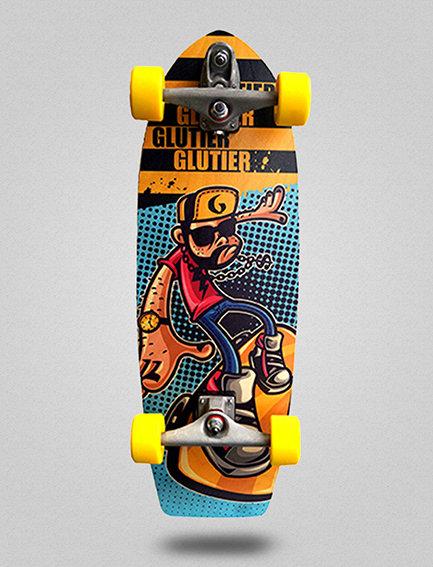 Glutier surfskate : John Drugs 30,5