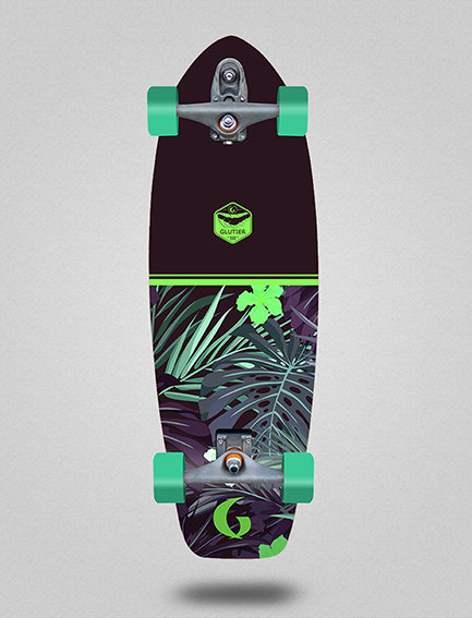 Glutier surfskate : Nayarit green 31