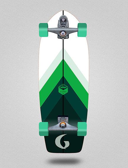 Glutier surfskate : Green style 29