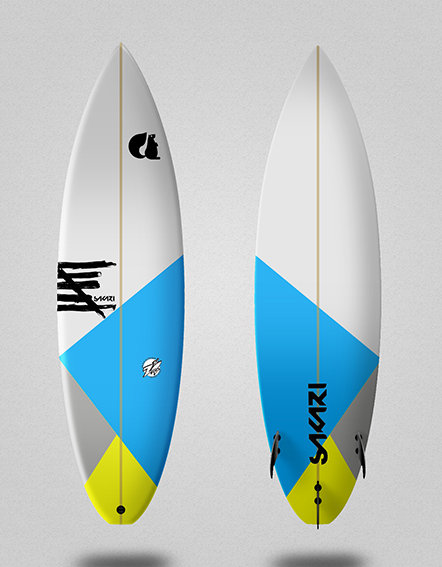 Sakari surfboard - Model Shape 016