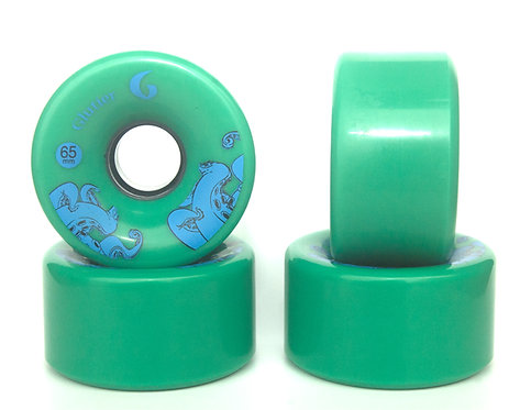 Glutier wheels : 65x36mm / 83a green