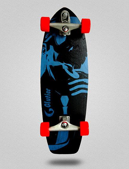Glutier surfskate : Mafia Gangsta blue 31
