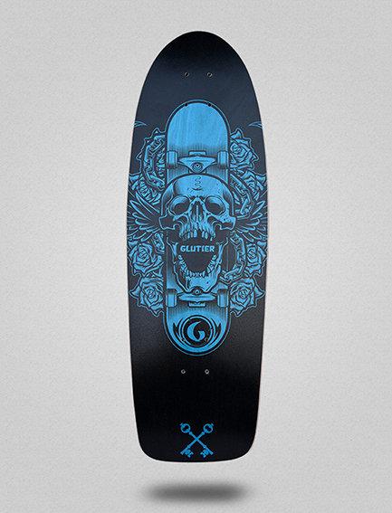 Glutier deck: Skate skull 30.5