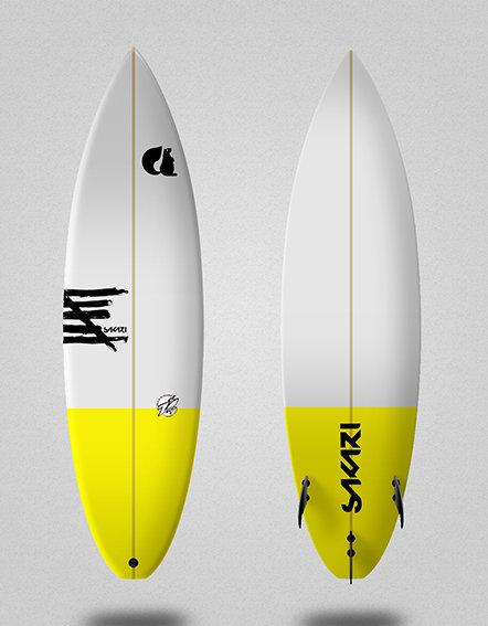 Sakari surfboard - Model Mustard