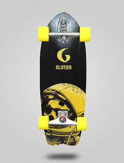 Glutier surfskate : Space mirror yellow 29