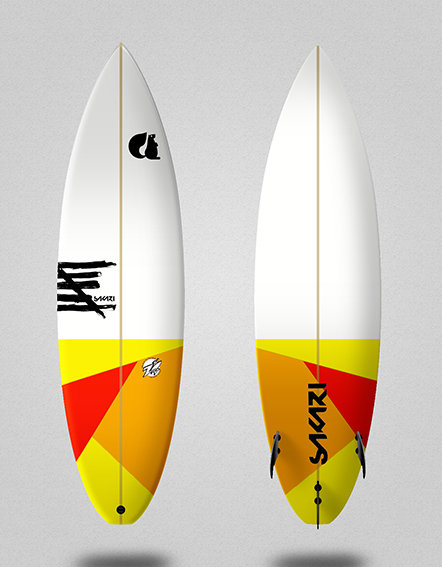 Sakari surfboard - Model Shape 013