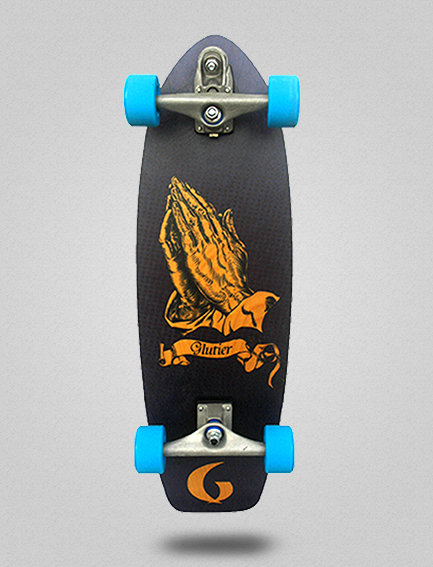 Glutier surfskate : Miracle blue 31