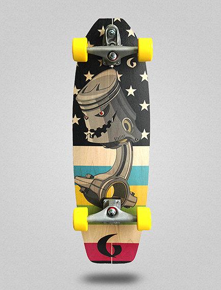Glutier surfskate : Piston 31.5