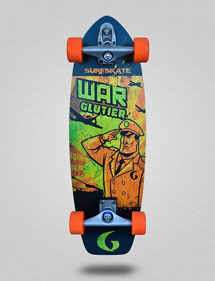 Glutier surfskate : War orange 31