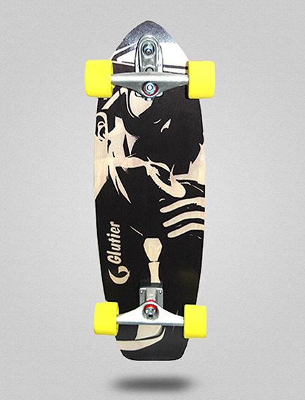 Glutier surfskate : Mafia Gangsta white 31