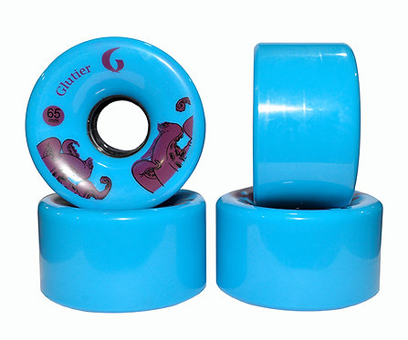 Glutier wheels : 65x36mm / 80a blue