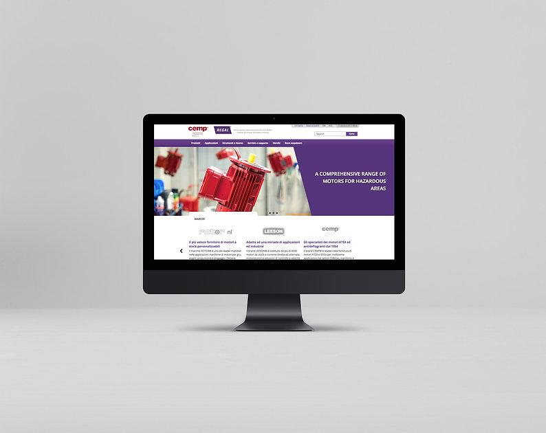 Mockup sito web design creatività