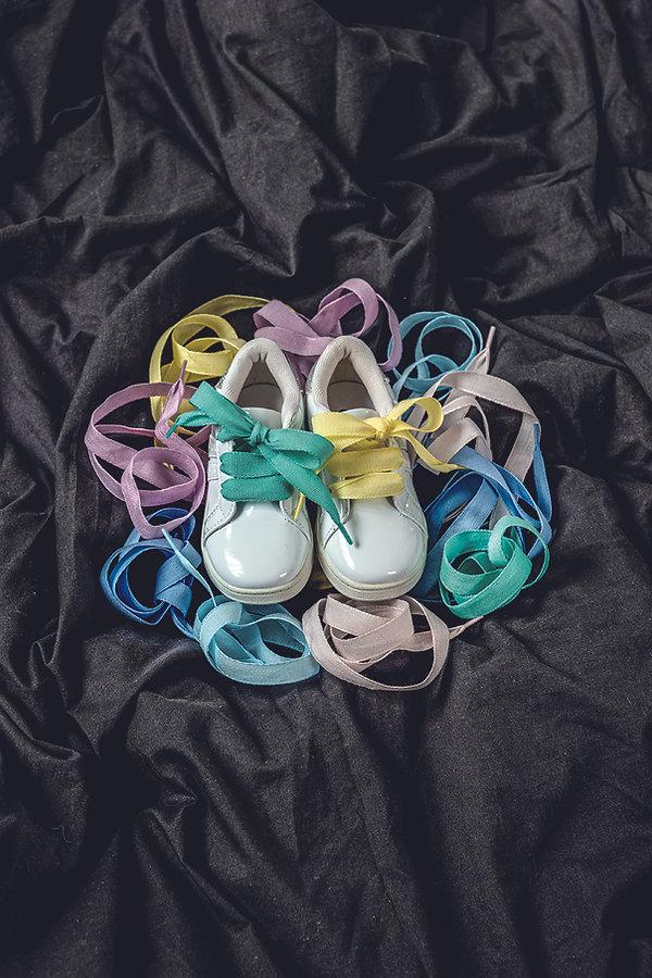 Fotografia ambientata lacci color baby