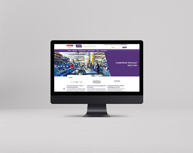 Mockup sito web design