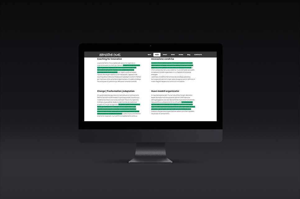 Mockup design ricerca sitoweb