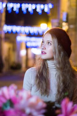 Portrait femme dans la rue