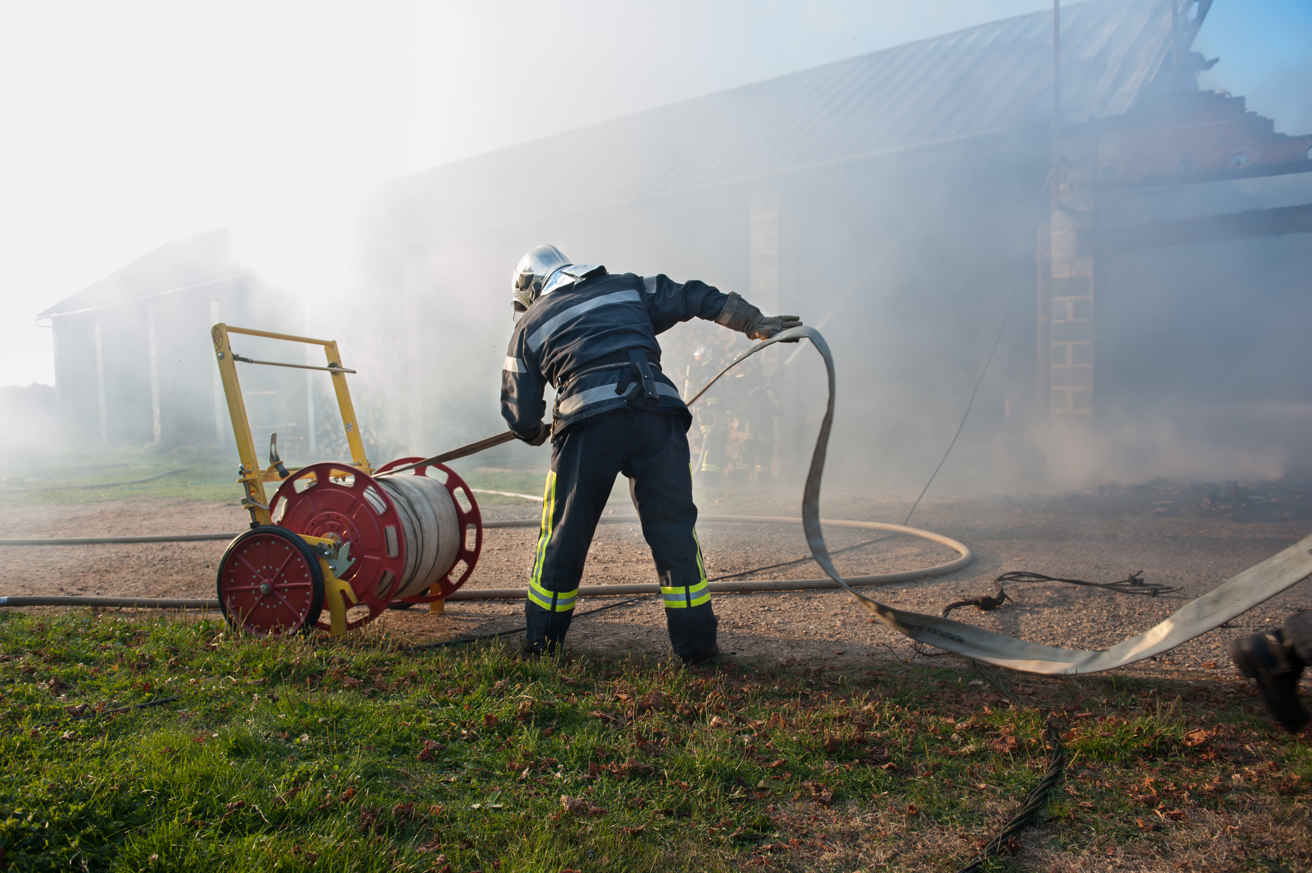 pompier en intervention