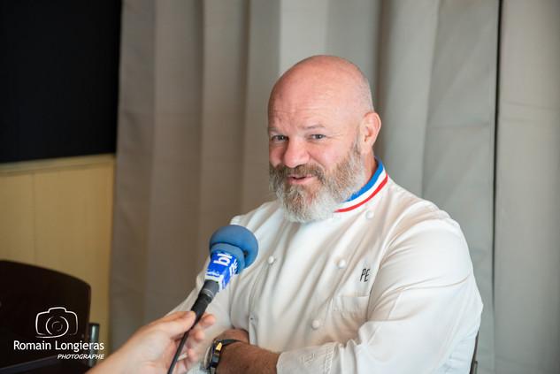 Philippe Etchebest juste après avoir terminé un tournage de Cauchemard en Cuisine