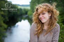 Portrait cheveux aux vents