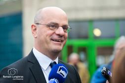 Jean Michel Blanquer, ministre de l'éducation en visite à Thiviers