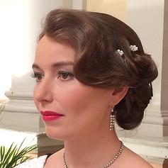 50's vintage bridal hair and make-up