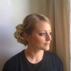 Bridal hair and smokey eye make-up