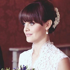 Beautiful up-do for wedding hair and lovely make-up - featured on Rock my Wedding website