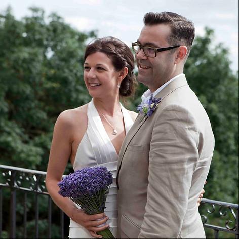 Spring wedding, braid in bridal hair