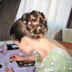 Brides hair & make-up for an Indian wedding