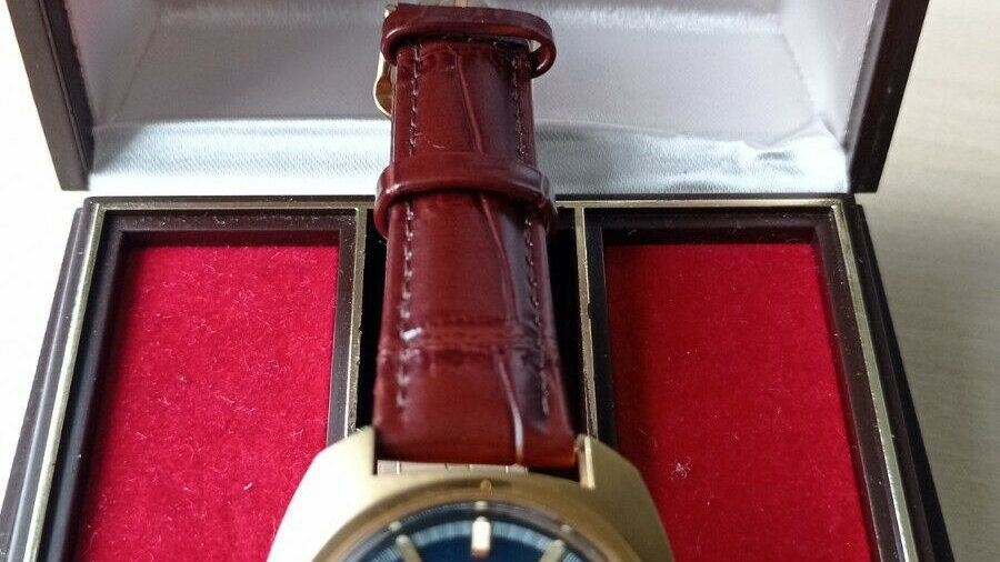 1975 Omega F300hz 198.030 tuning fork watch, Gold Plated, Box & Papers