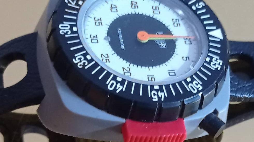 Vintage 1970s Heuer Supersport Wrist timer / stopwatch
