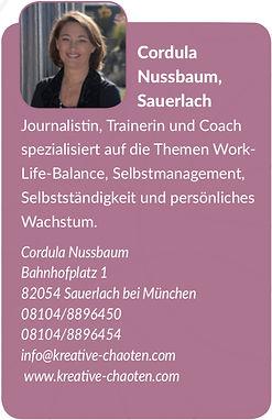 Coach Cordula Nussbaum
