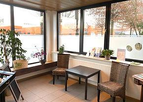 Eingangsbereich unserer Privatpraxis für Podologie und Fußpflege in Marl