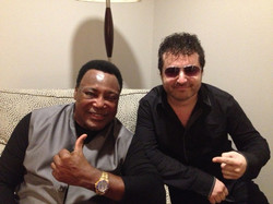 W/ George Benson after the hit
