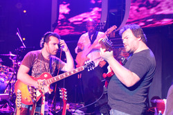 Rehearsing with Jack Black and Artie Reynolds
